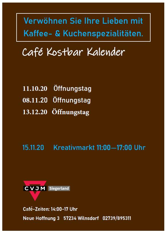 Cafe Kostbar 2020